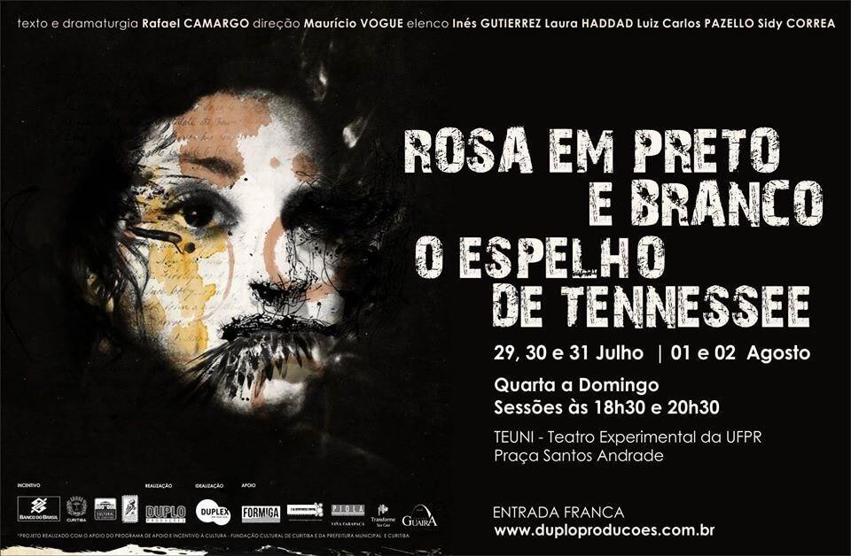 ROSA EM PRETO E BRANCO – O ESPELHO DE TENNESSEE